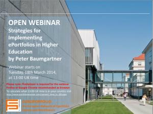 Open Webinar: Strategies for Implementing ePortfolios in Higher Education