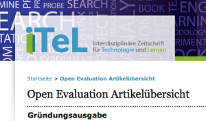 Open Peer Review bei iTeL