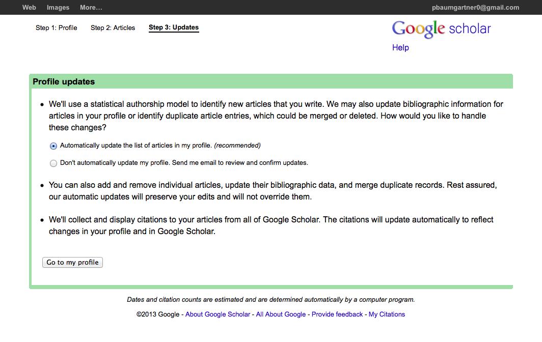 Google Scholar Profil Erstellen
