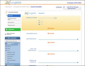 Europass Lebenslauf Online Formular