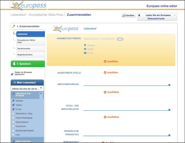 europass  lernen und arbeiten in europa