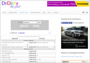 Eine typische Seitenansicht von DrDicty.com