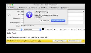Thunderbird: Nachfrage zum Datei-Anhang
