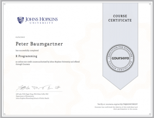 Coursera-Certificate-R-Programming
