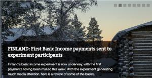 Finnland: Groß angelegtes sozialwissenschaftlich begleitetes Projekt zum unbedingten Grundeinkommen