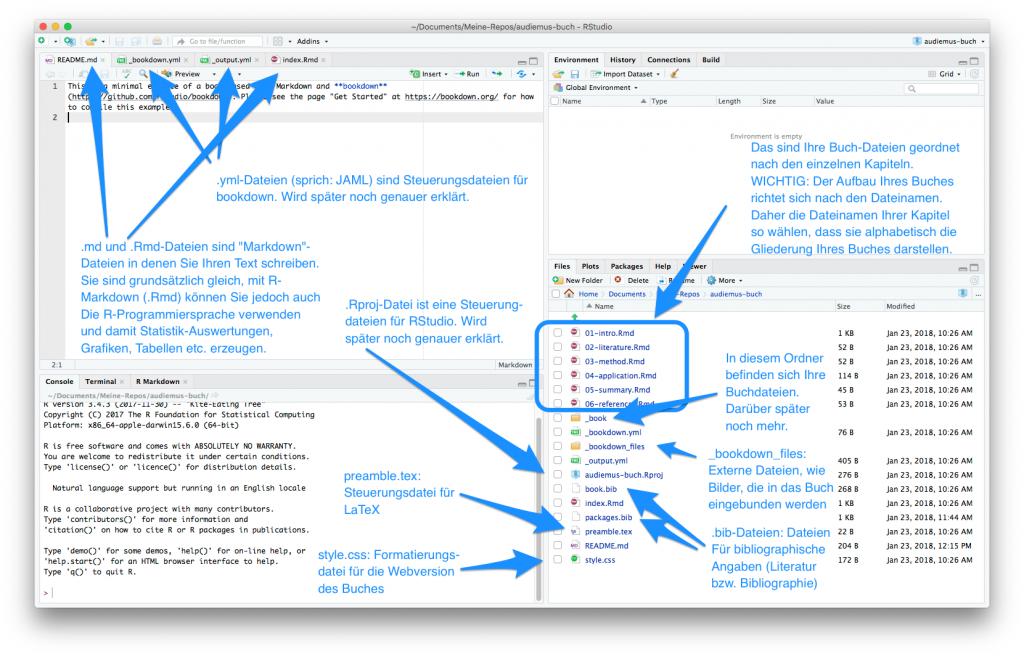 screenshot: Welche Funktionen haben die vielen bookdown-Dateien?