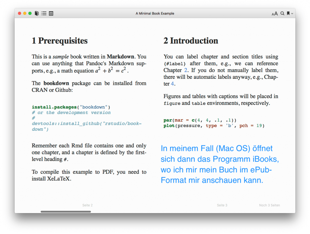 screenshot: Das eBook in Ihrem eBook-Reader anschauen