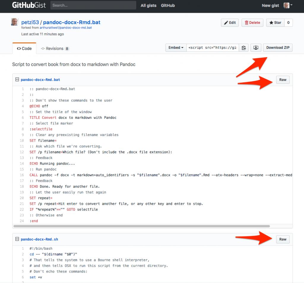 CMP-03a: Shell-Programme für Konvertierung von Word.docx zu RMarkdown.Rmd
