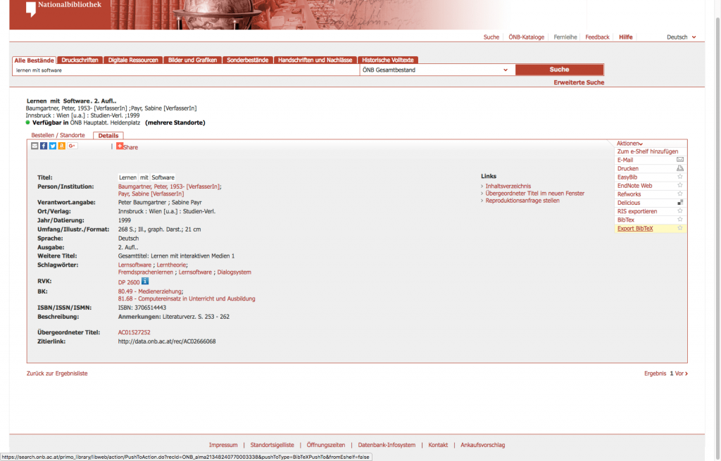CMP-06: Literaturangaben als BibTeX-Datei exportieren