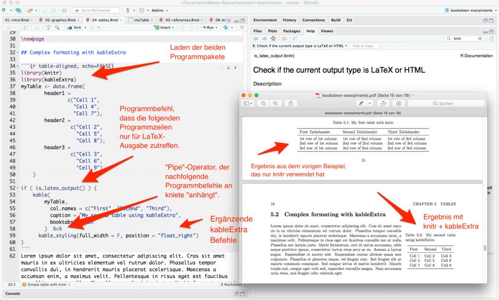 CMP-05: Tabelle mit fließendem Text. Codierung und Ergebnis als PDF