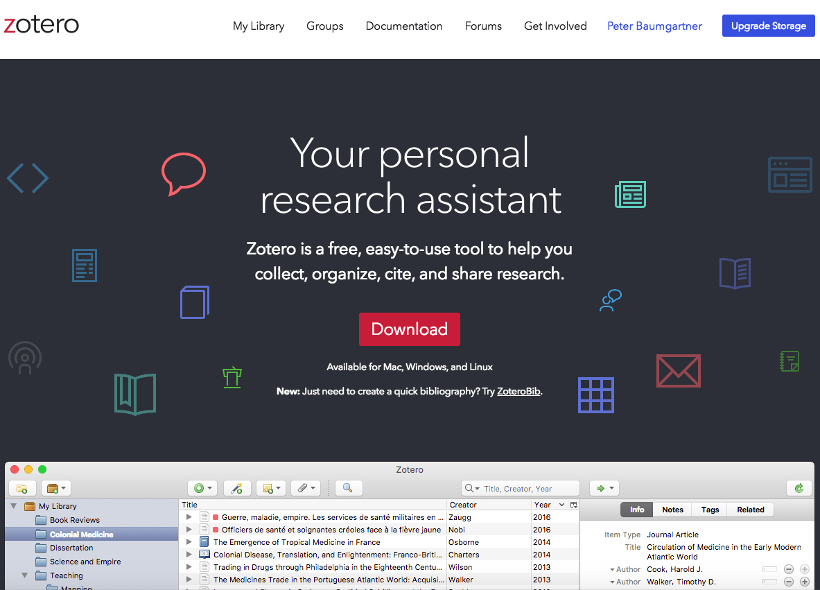 Zotero Homepage