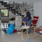 Wohnzimmer ausräumen