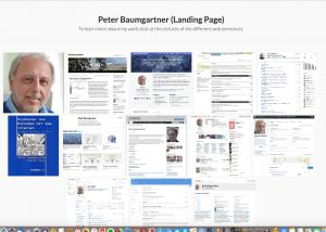 Screenshot meiner Landing Page